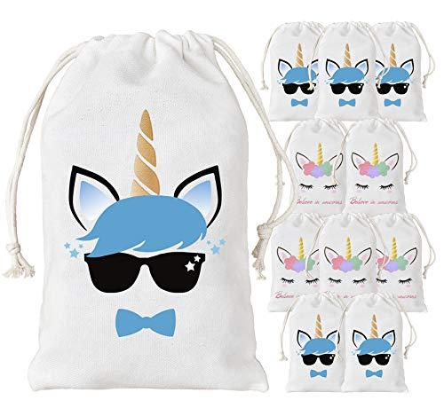 Kreatwow Unicornio para Bolsos de Fiesta para niños, niñas, artículos de Fiesta de cumpleaños, Paquete de 12