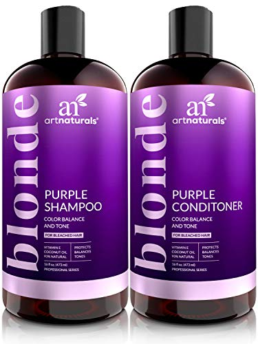 ArtNaturals Purple Shampoo and Conditioner Set – (2 x 16 Fl Oz /...