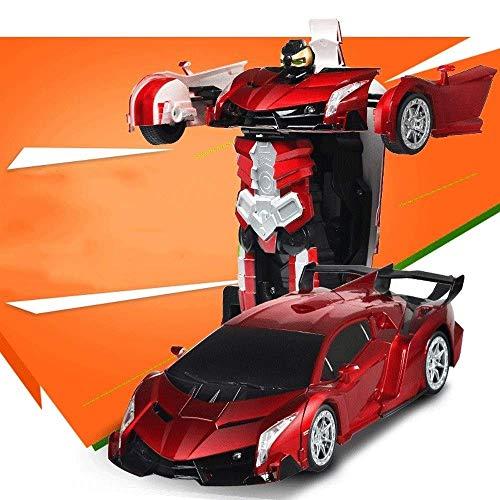 FYRMMD RC Transform Car Robot Control Remoto Coche Un Botón Se Transforma en Robot con Luces Intermitentes RC Transformin (Coche de Control Remoto)