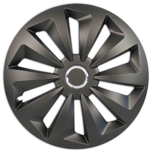 Cartrend Cartrend Radzierblenden Set Fox, 4 er Set, 40.64 cm (16 Zoll) schwarz matt
