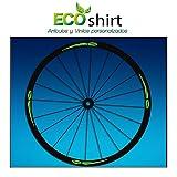Ecoshirt PJ-E528-B7ZJ Pegatinas Stickers Llanta Rim Mavic 26' 27,5' 29' Am43 MTB Downhill, Verde