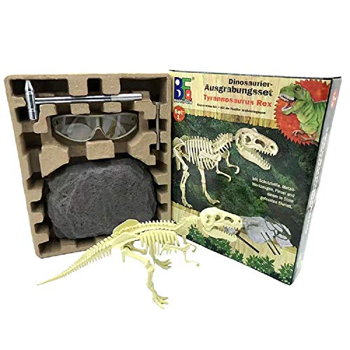 SYGF Dinosaurier Skelett Ausgrabungsset für Kinder Dino Knochen Ausgrabung Spielzeug Archäologie Paläontologie Geschenk,für Jungen Mädchen Kinder Geschenk