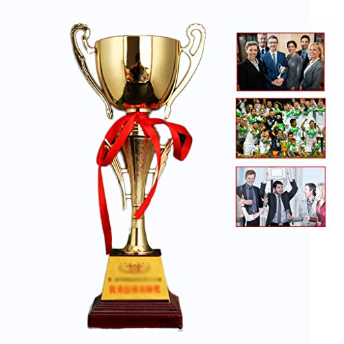 Trophies Customized Metal Competition School Sports Capless Binaural Champion (Color : Gold, Size : 9 * 41CM)