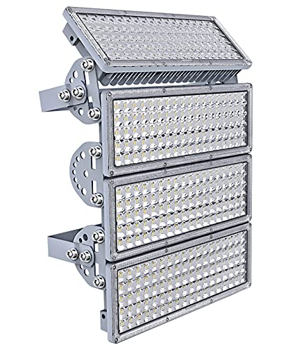 LED Flood Light, Kekeou Stadium Light, 400W Stadium Flood Light Outdoor, 1000W Equivalent 40000LM, 4 Adjustable Modules with Wider Lighting Angle, 6500K IP67 for Stadium Lawn
