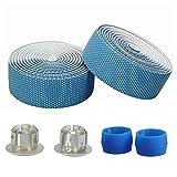 Cintas De Manillar Ciclo del camino de la cinta de manillar de la bici de la bicicleta Durable barra de la manija de la cinta Wrap fijación de las correas de accesorios de la bici ( Color : Blue )