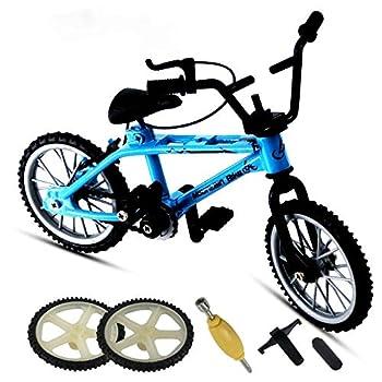 YERZ Mini Bike Finger Bike Finger Skateboard Functional Miniature Toys Mini Sports Finger Bicycle Skateboard Toy Collections Blue