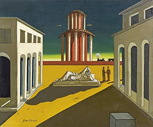 Giorgio de Chirico ジクレープリント キャンバス 印刷 複製画 絵画 ポスター (プラザデイタリア)