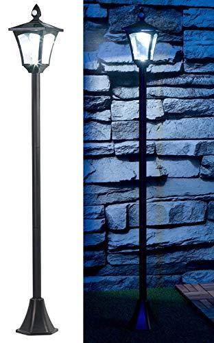 Royal Gardineer Wegeleuchten: Solar-LED-Gartenlaterne, PIR-Sensor, Dämmerungssensor, 100 lm, 160 cm (Standleuchte)