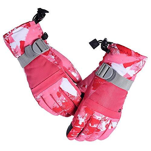 Acant wasserdichte Ski-Handschuhe Für Männer Und Frauen - Winter Warm Snowboard-Handschuhe Touchscreen Handschuhe Atmungsaktiv Windabweisend Reitsport Wandern Volle Finger-Handschuhe Red-M