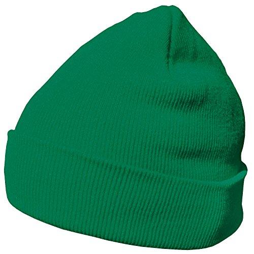 DonDon Wintermütze Mütze warm klassisches Design modern und weich grün