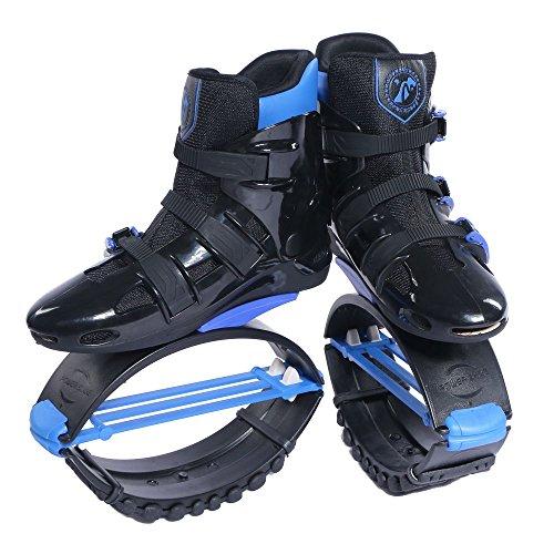 Joyfay Black and Blue Unisex Fitness Jump Shoes Bounce Shoes XXL