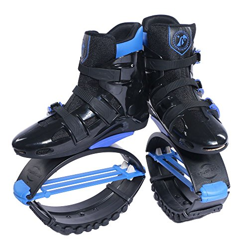 Joyfay Black and Blue Unisex Fitness Jump Shoes Bounce Shoes XXL