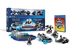 Starter Pack Includes: Video Game, Portal of Power, 2 Skylanders SuperChargers Characters, 2 Skylanders Vehicles, 1 Kaos Trophy, and a 2-Sided Dark Edition Collection Poster Embark on an All New Wild Adventure and Battle to Save Skylands Fly, Drive a...