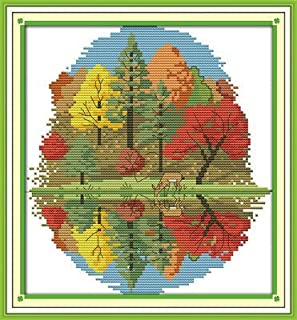 Joy Sunday Cross Stitch Kits,Animal Style,Three Dogs 4,11CT Stamped 71cm/×42cm or 27.69/×16.38