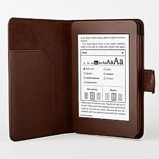 [Present-web] Kindle Paperwhite 6インチ用 レザーケース (全11色) キンドル ペーパーホワイトLeather case (ブラウン)