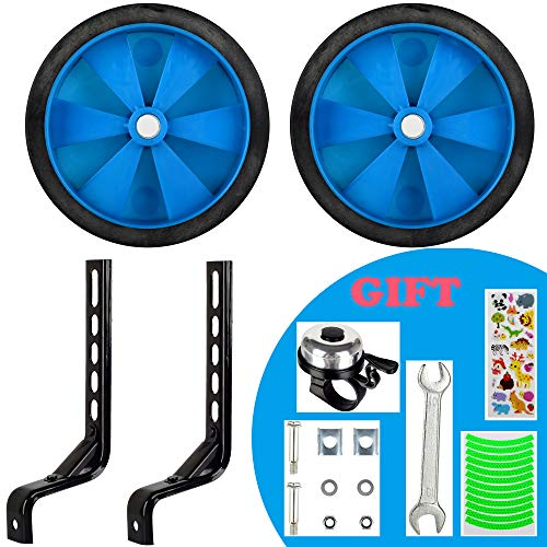 Bicycle Training Wheels for Kids Boys Girls Stronger Version Heavy Duty Rear Bicycle Stabilizers Mounted Kit for 12 14 16 18 20 Inch Bike (Blue)