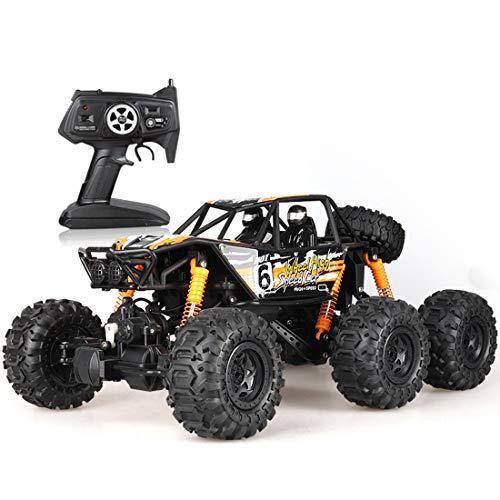 Coches RC teledirigidos, 1/12 coche teledirigido impermeable monstruo campo a través del coche de RC de 10 km / h Monster High Speed vehículo eléctrico de juguete con la batería recargable 2,Naranja