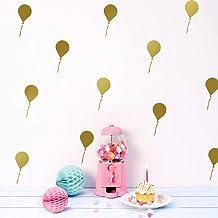 Kids Muur Cartoon Ballon Decoratie Schilderen PVC Muursticker Woonkamer tv Zand Bruin