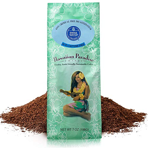 Hawaiian Paradise Flavored Ground Coffee, Decaf, Island Favorite Swiss Water Flavor