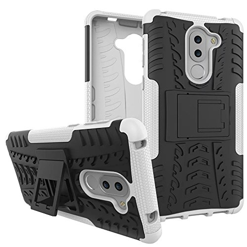 Honor 6X Case, Lantier Hybrid Shockproof Impact Protection Tough Hard Rugged Heavy Duty Combo Dual Layer Protective Case Cover with Kickstand for Huawei Honor 6X 5.5'' Grey