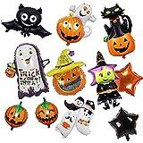 Globos de Halloween, Calabaza Spider Ghost Decoración Fiesta Suministros y Decoración Globo para Hombres y Mujeres Adultos Decoración de Fiesta