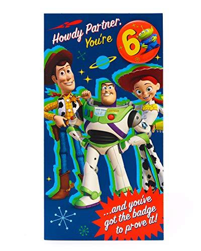 Verjaardagskaart voor de 6e verjaardag - Toy Story 4 verjaardagskaart voor de leeftijd van 6 jaar - verjaardagskaart - Disney verjaardagskaart - cadeaukaart voor kinderen - Toy Story 4 geschenken