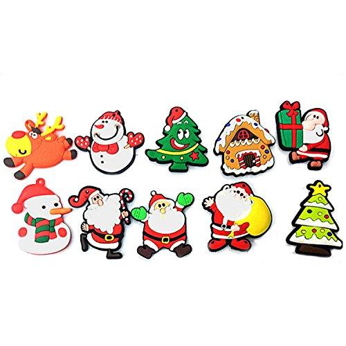 Estilo lindo: las pegatinas de imán con una variedad de patrones de Navidad, lleno de sentimiento de Navidad. Imán: puede adsorberse en cualquier metal o superficie magnética, como el refrigerador, los aires acondicionados. Útil: puede llevar a su fa...