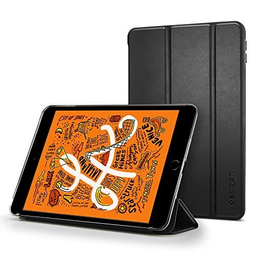 Spigen Smart Fold Kompatibel mit iPad Mini 5 Generation Hülle Hülle Cover mit Auto Schlaf-/Aufwachfunktion (7.9 Zoll, 2019) - Schwarz