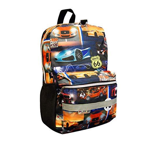 Cabin Max Fenza: zaino per la scuola con auto da corsa (auto da corsa)
