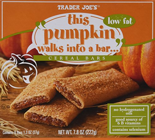 Trader Joe's This Pumpkin Walks Into a Cereal Bars, (4 Boxes)