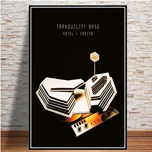 yiyitop Plakate und Drucke Arctic Monkeys Music Band Zitat Poster Wandkunst Bild Leinwand Malerei für Raum Wohnkultur 50x70cm (Kein Rahmen)