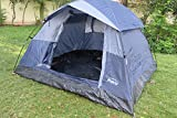 AMAZE' Camping Tent 3 People Grey