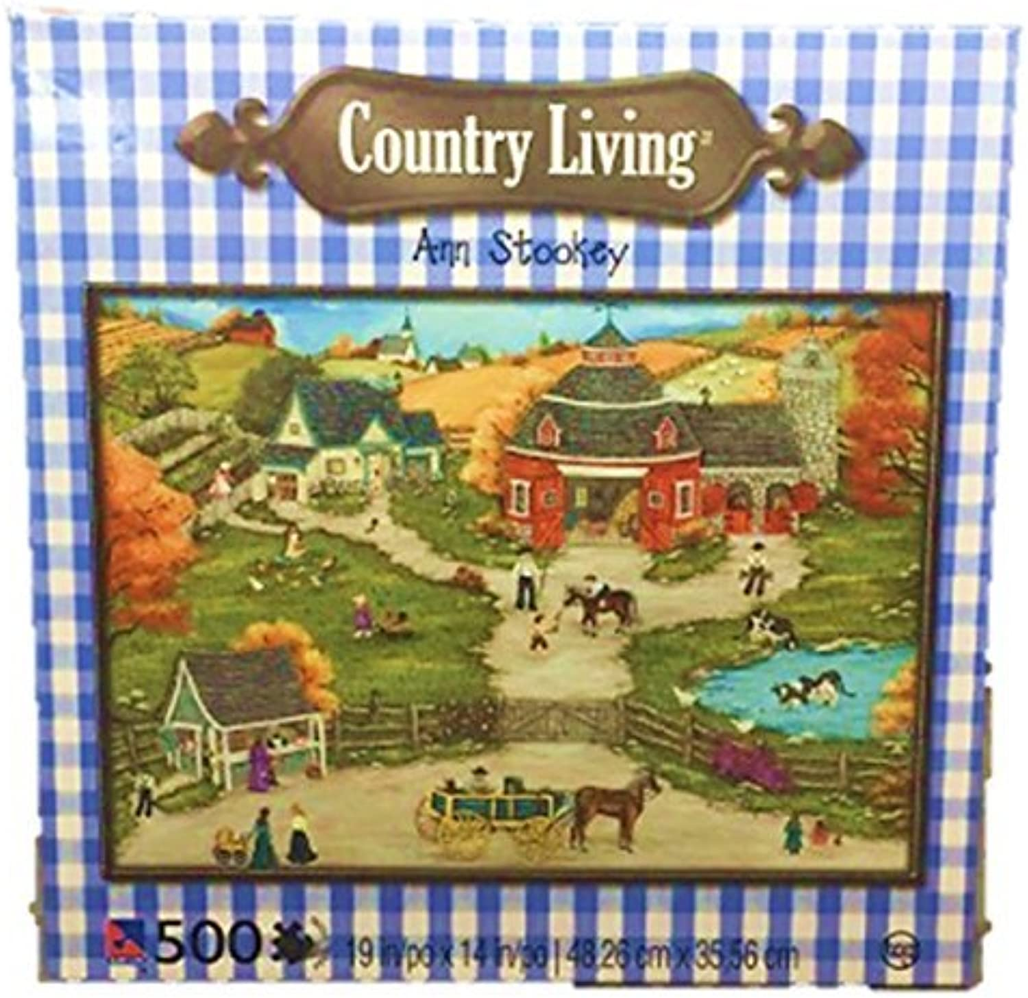 Ann Stookey Country Living 500 Piece Jigsaw Puzzle Grandpa's Barn Yard by SureLox