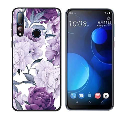DQG Anti-Fall Schutzhülle für HTC Desire 19 Plus Hülle, Weiche Handytasche Transparent TPU Handyhülle Silikon Tasche Schale rutschfest Hülle Cover für HTC Desire 19 Plus (6.2