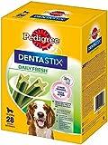 Pedigree DentaStix Fresh Hundesnack für mittelgroße Hunde (10-25kg), Zahnpflege-Snack mit Eukalyptusöl und Grüner Tee-Extrakt, 4 Packungen je 28 Stück (4 x 720 g)