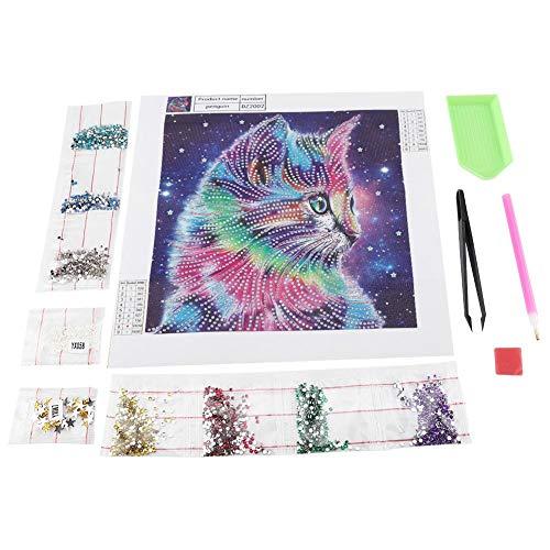 Kit de manualidades para pintar con diamantes 5D, juego de pintura con piedras de cristal totalmente perforadas, diseño de animales coloridos para decoración de paredes del hogar