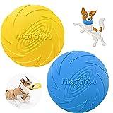2 Pcs Perros interactivos Frisbee, Juguete de Disco Volador para Perro, para Adiestramiento de Perros Juguetes de Tiro, Captura y Juego, Platillo Volador Flotante de Piscina de Playa (L)