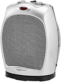 AmazonBasics 1500W Oscillating Ceramic Heater with Adjustable Thermostat