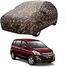 MotRoX Car Body Cover for Maruti Suzuki Ertiga with Side Mirror Pocket (Military Color)