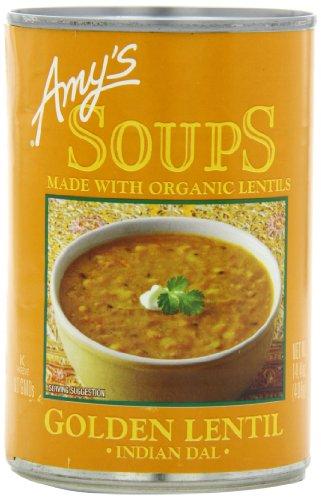 Amy's Organic Soups, Golden Lentil, 14.4 Ounce (Pack of 12)