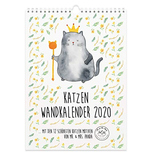 Mr Mrs Panda Jahreskalender Kalender A3 Wandkalender 2020 Katze Collection Mit Spruch Farbe