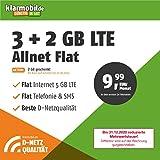 Handyvertrag D-Netz Allnet Flat 3 GB - Internet Flat, Allnet Flat Telefonie & SMS in alle Deutschen Netze, EU-Roaming, 24 Monate Laufzeit