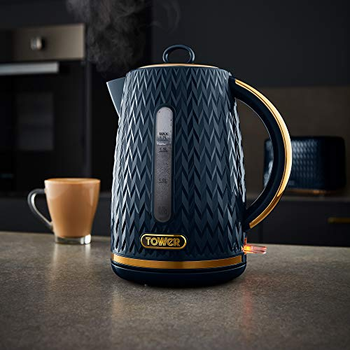 Tower Empire Kettle 3000 W 1.7 L - Midnight Blue/Bronze