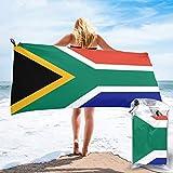 Sunmuchen Badetuch mit Südafrika-Flagge, Fitnessstudio, Strandtuch, Mehrzweck-Einsatz für Sport, Reisen, super saugfähig, Mikrofaser, weich, schnell trocknend, leicht