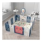 Beckye 18 Paneles Vallado for bebés,Interiores Y Exteriores Parque Infantil for Bebés Portátil Valla de Juegos for niños Plegable Parque de Juegos bebés, para Niños De 10 Meses A 6 Años