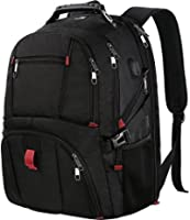 Travel Backpack for International Travel, Matein 17 Inch Laptop Backpack with USB Port and Luggage Strap for Women and Men, Extra Large TSA Friendly Water Resistant Business Computer Bag for Airplane
