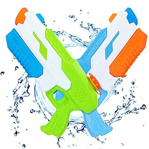 Magicfun Pistola Agua Niños, 2 Pack Pistola de Agua Chorro de Agua con 650 ml de Capacidad y 10,6 m de Larga Alcance, Pistolas Juguetes de Agua para Piscina, Playa, Jardín