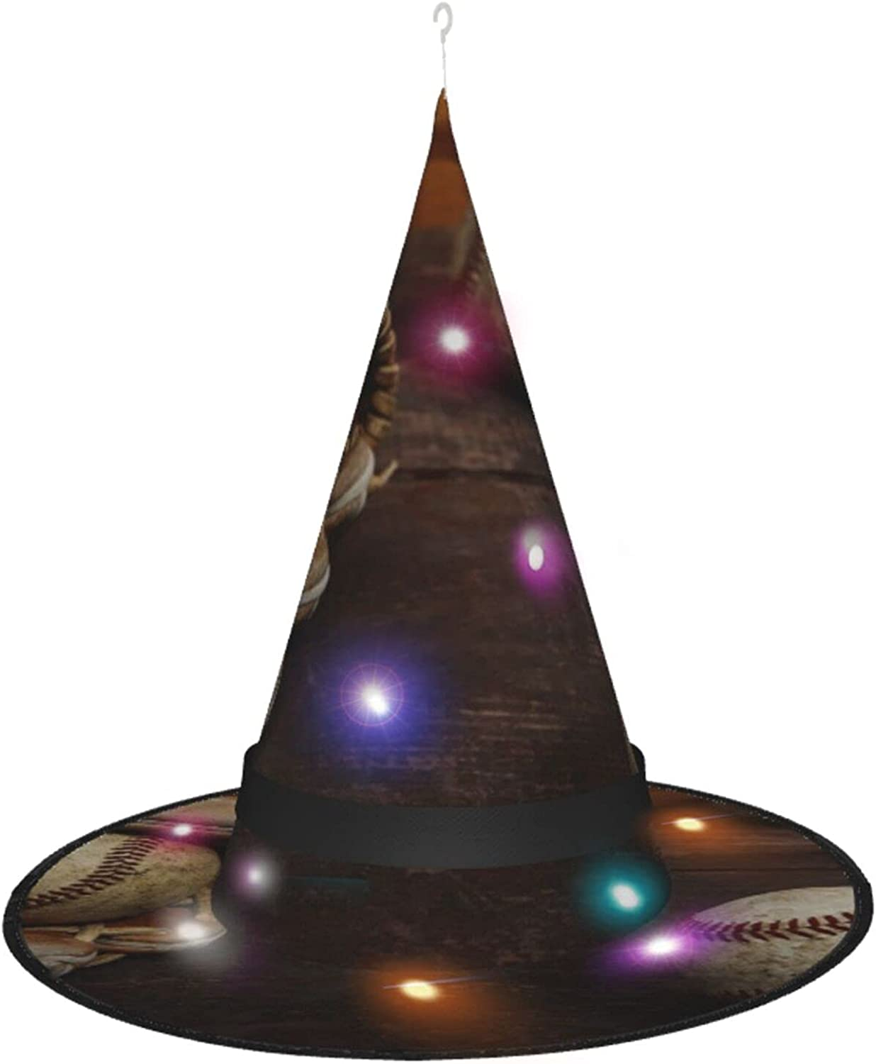 Halloween Witch Selling and Las Vegas Mall selling Hats with Costume Accessory Lights for