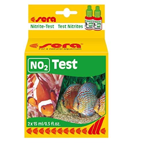 sera 04410 Nitrit Test (NO2), Wassertest für ca. 75 Messungen, misst zuverlässig und genau den Nitritgehalt, für Süß- & Meerwasser, im Aquarium oder Teich