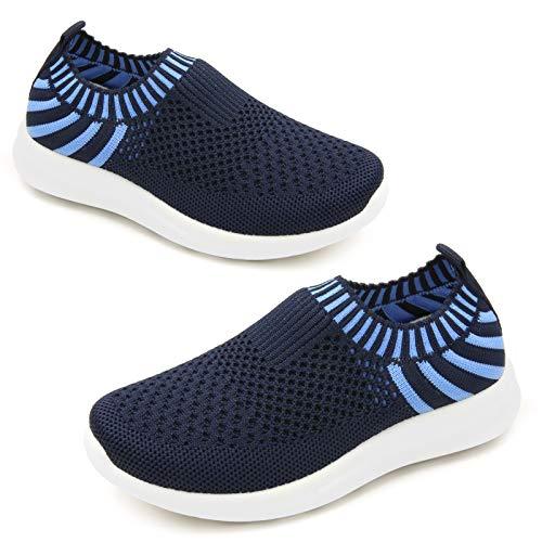 Apawwa Boy Girls sneakers Kids Kids Lightweight Slip-On